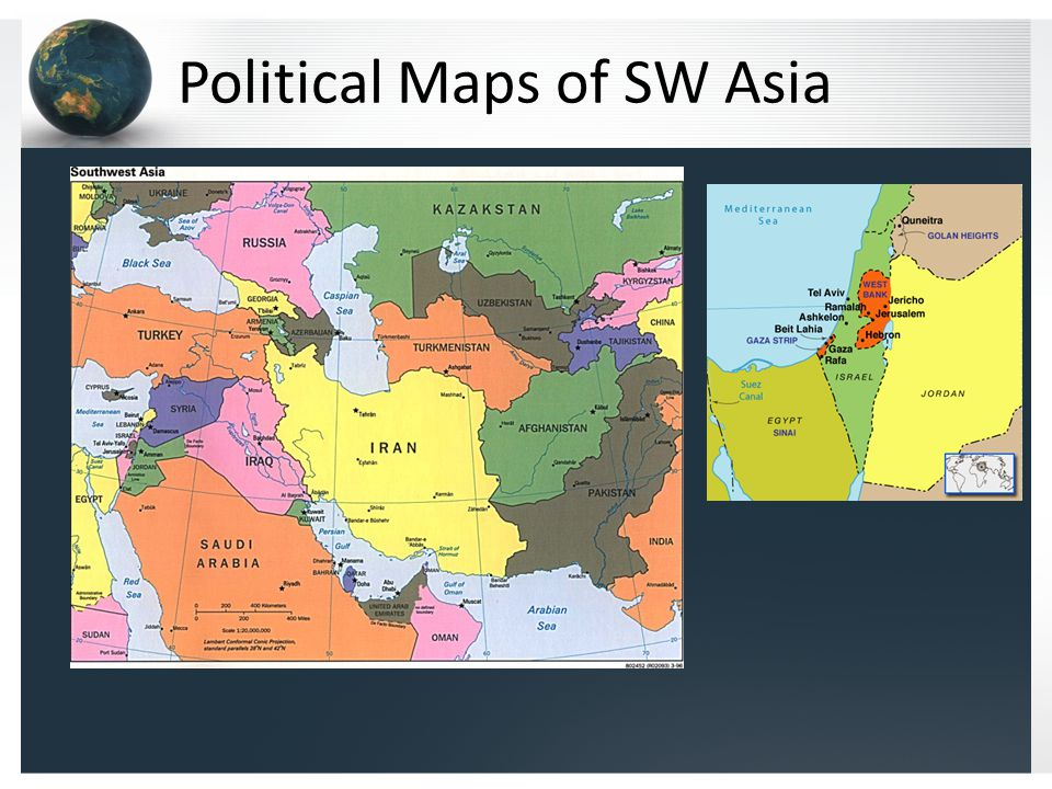 Political Maps of SW Asia