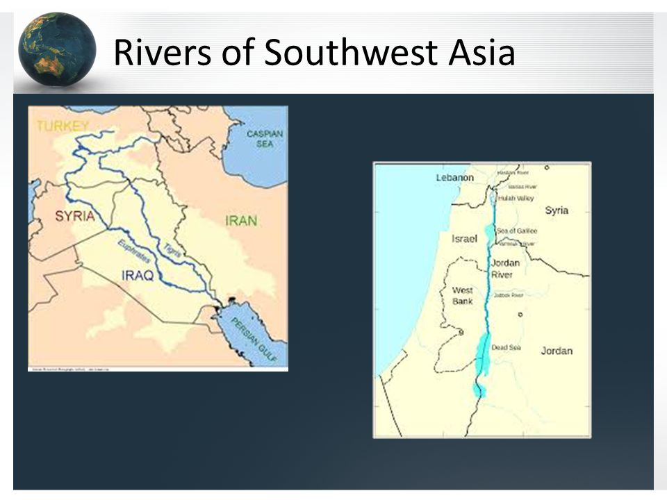 Rivers of Southwest Asia