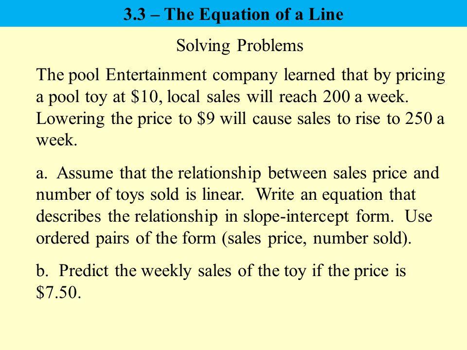 33 The Equation Of A Line Slope Intercept Form Point Slope Form