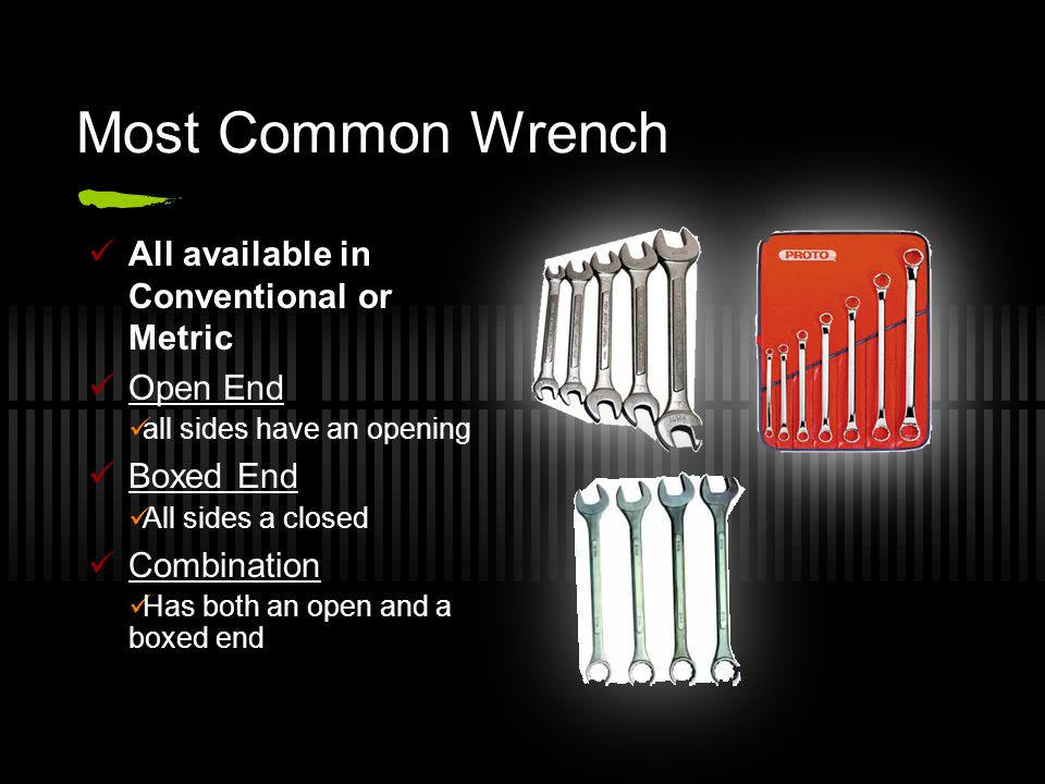 Wrench Measurement Conventional vs.