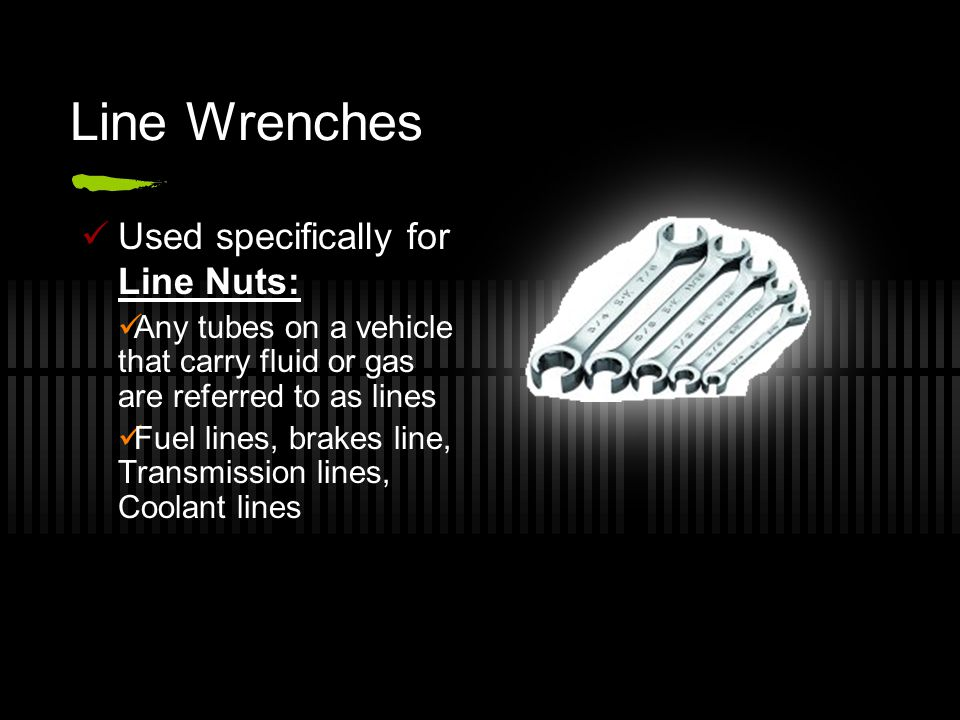 Most Common Wrench All available in Conventional or Metric Open End all sides have an opening Boxed End All sides a closed Combination Has both an open and a boxed end
