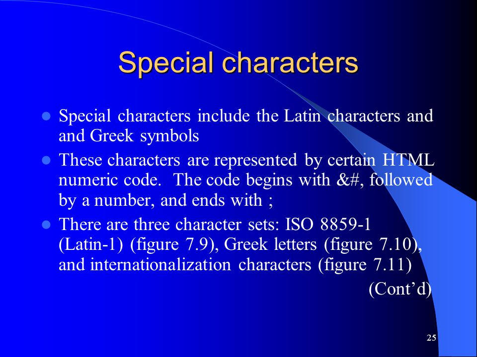 1 html basic html 2 outline goal objectives introduction design of 25 special characters special characters include the latin characters and and greek symbols these characters are spiritdancerdesigns Images