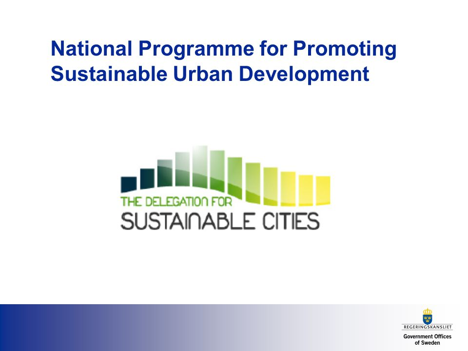 National Programme for Promoting Sustainable Urban Development