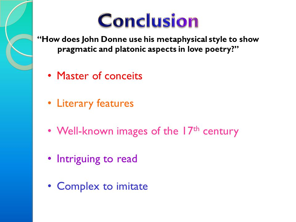 discuss john donnes use of conceits