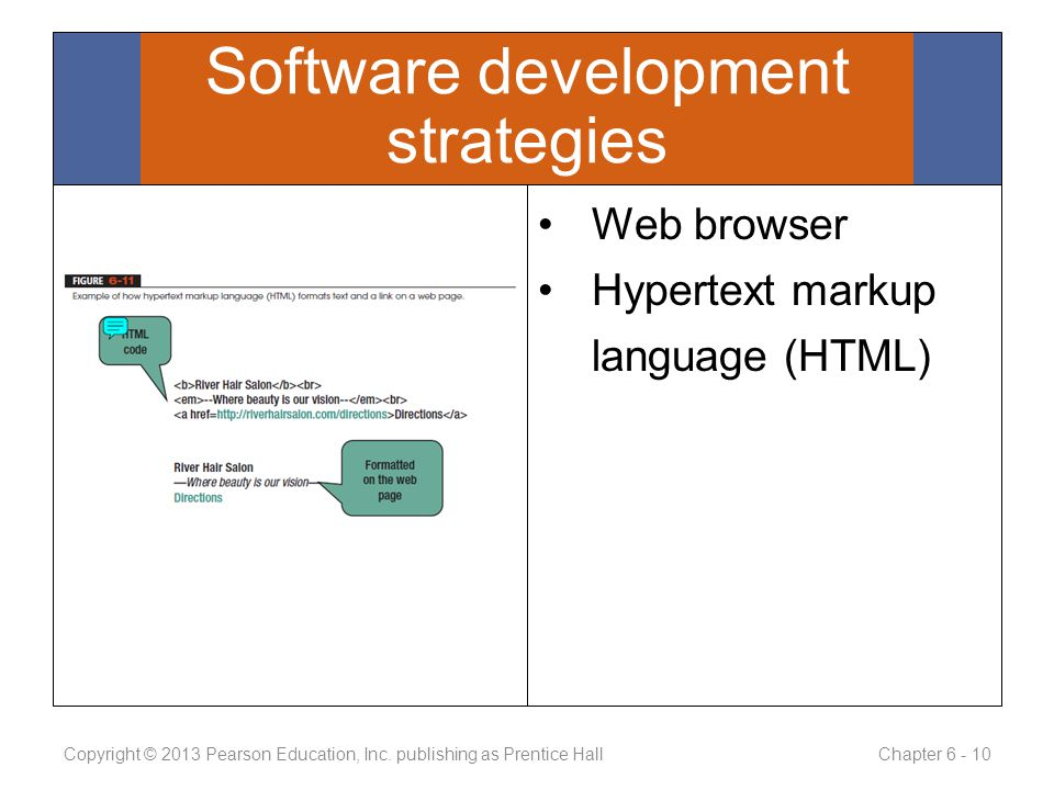 Web browser Hypertext markup language (HTML) Copyright © 2013 Pearson Education, Inc.