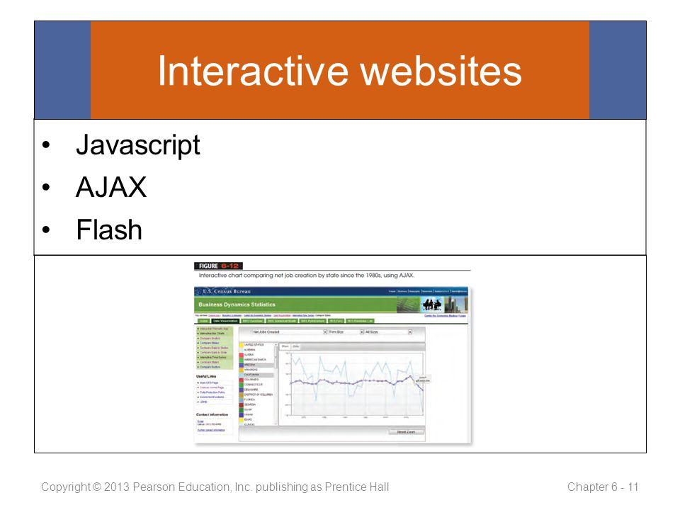 Javascript AJAX Flash Copyright © 2013 Pearson Education, Inc.