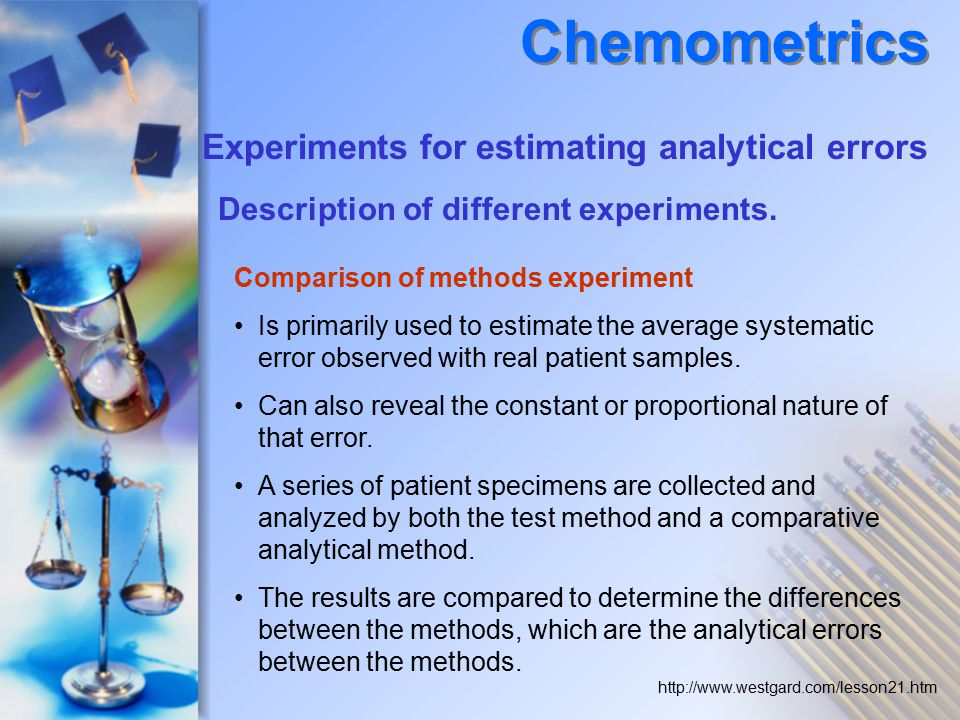 Comparison of methods experiment Is primarily used to estimate the average systematic error observed with real patient samples.
