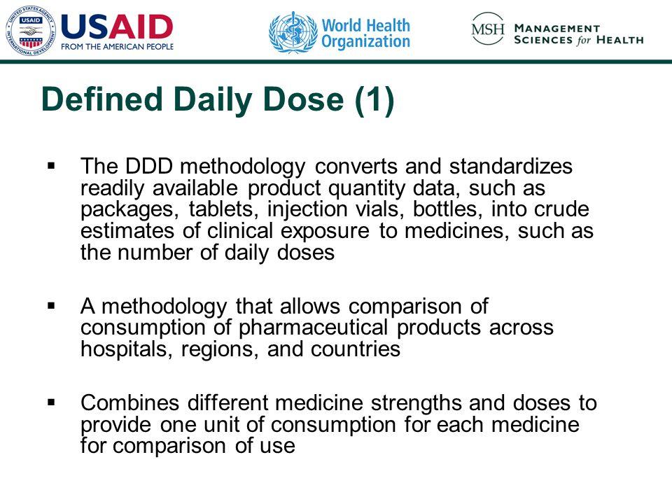 ddd daily defined dose