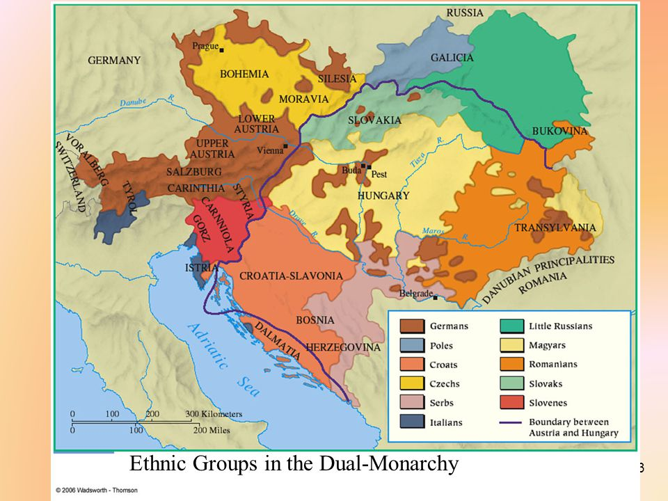 Nationalism In Austria Russia AustriaHungary Russia Ppt - Map of austria hungary 1900 1907