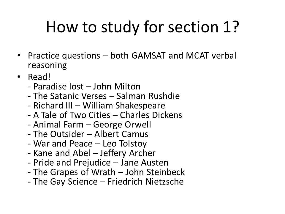 GAMSAT Essay Examples