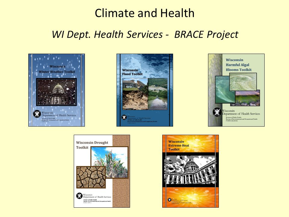 Climate and Health WI Dept. Health Services - BRACE Project