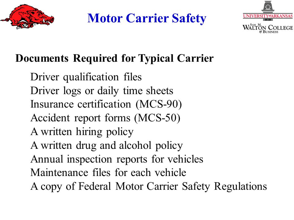 Motor Carrier Safety The Highway Safety Problem Safety in the ...