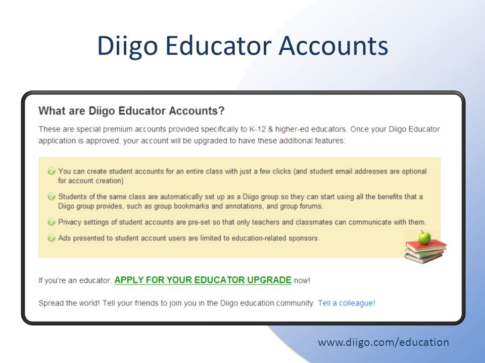 Diigo Educator Accounts