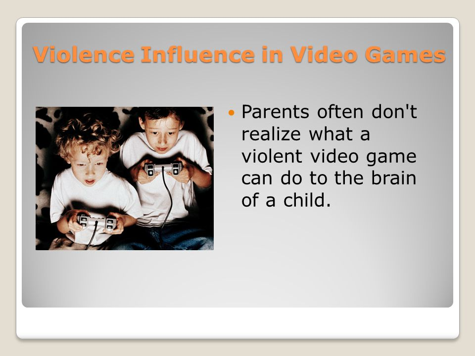 gammers violence children and tv violence essay I never understood a parent who didn't embrace the hobby my parents were always supportive of my decision to spend time gaming when i was young, they bought me an atari.