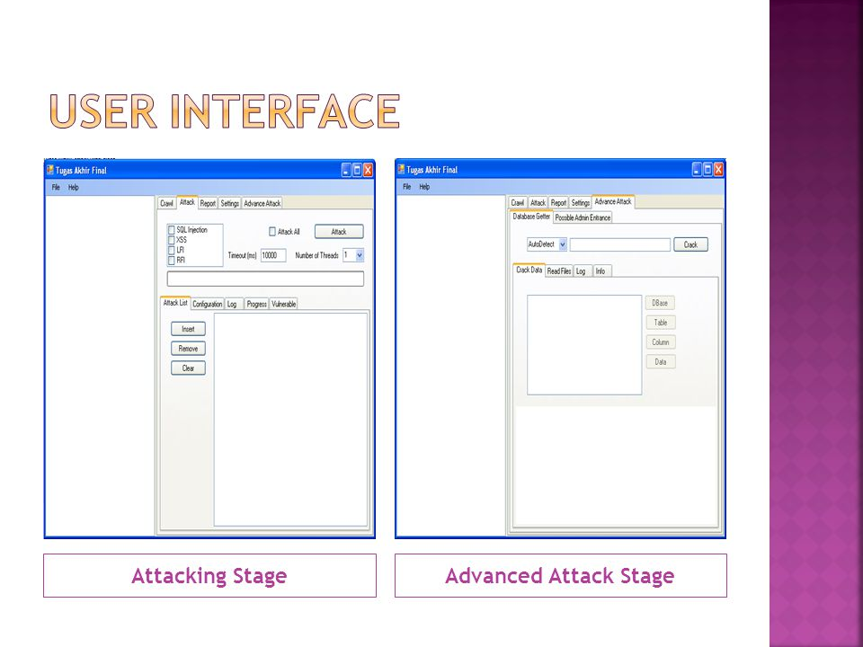 Attacking StageAdvanced Attack Stage