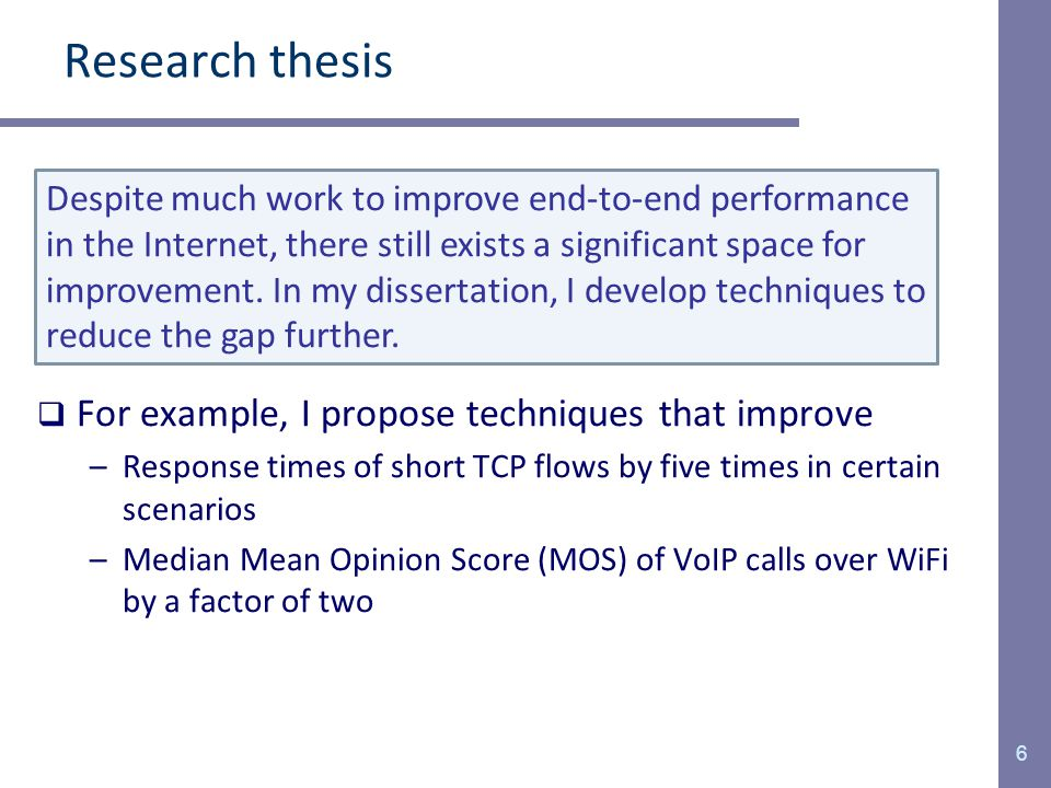 Phd thesis proposal techniques