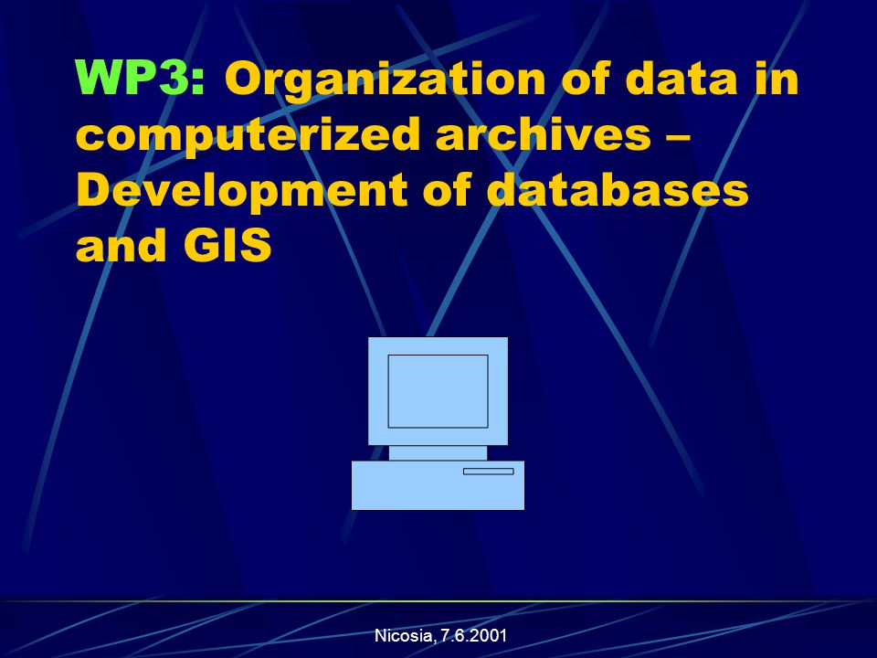 Nicosia, WP3: Organization of data in computerized archives – Development of databases and GIS