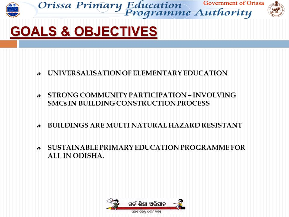 Goals objectives universalisation of elementary education strong 2 goals objectives universalisation of elementary education strong community participation involving smcs in building construction process buildings are thecheapjerseys Choice Image