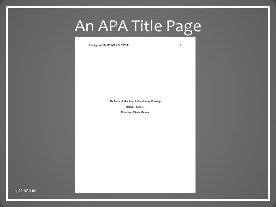 APA title page with multiple authors?