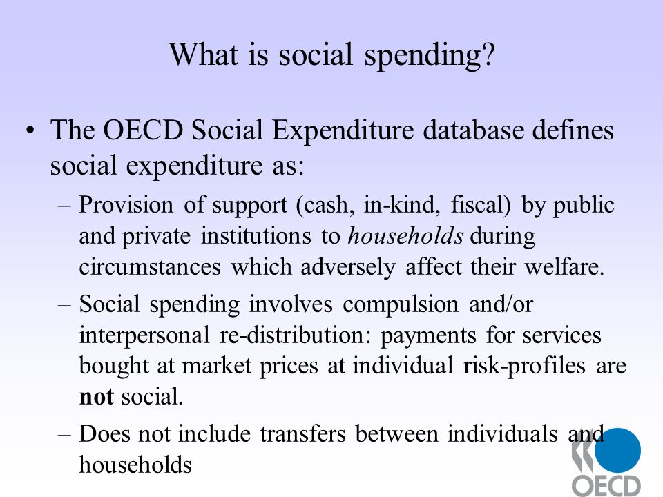 What is social spending.