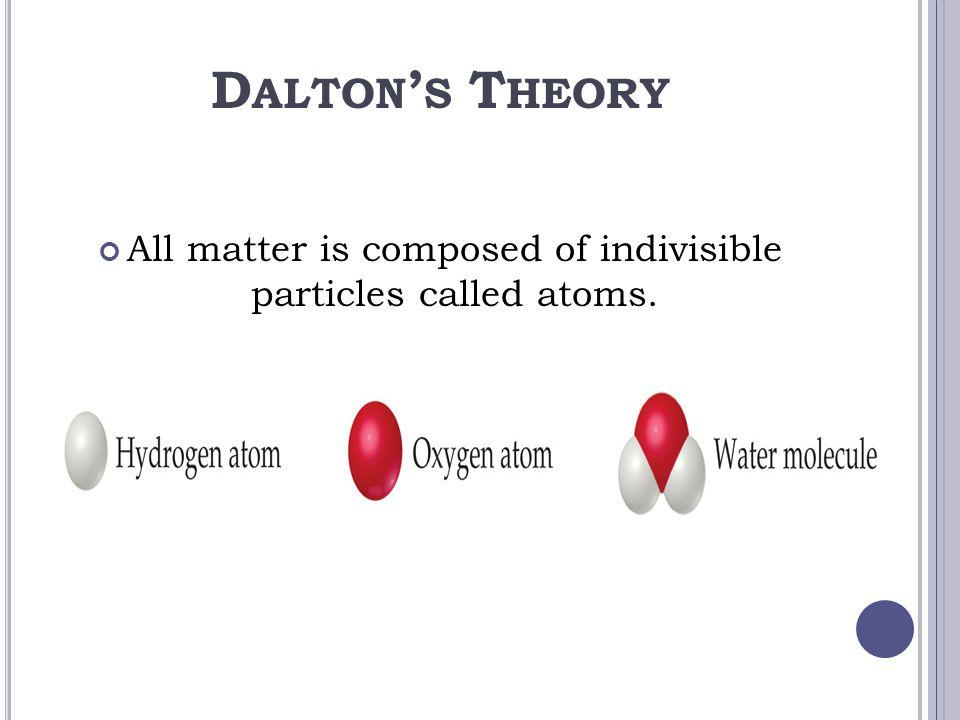 a study of john daltons atomic theory of matter