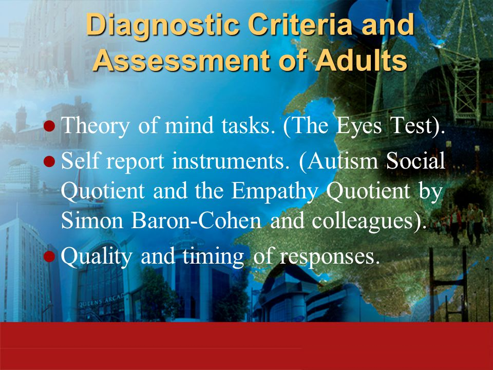 Aspergers adults diagnostic criteria