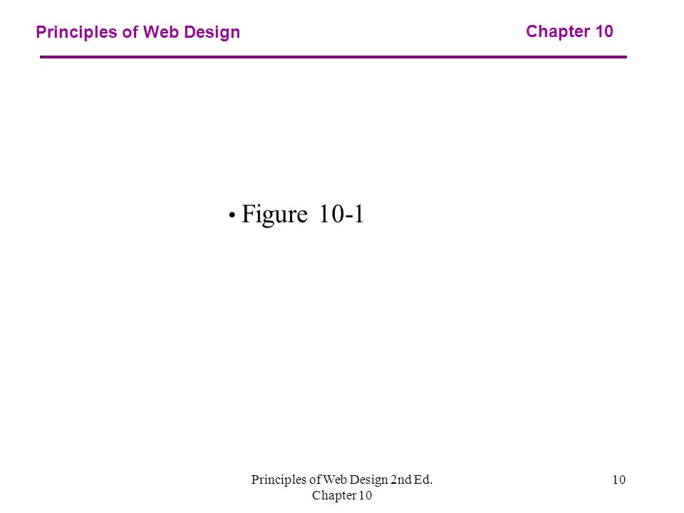 Principles of Web Design 2nd Ed. Chapter Principles of Web Design Chapter 10 Figure 10-1
