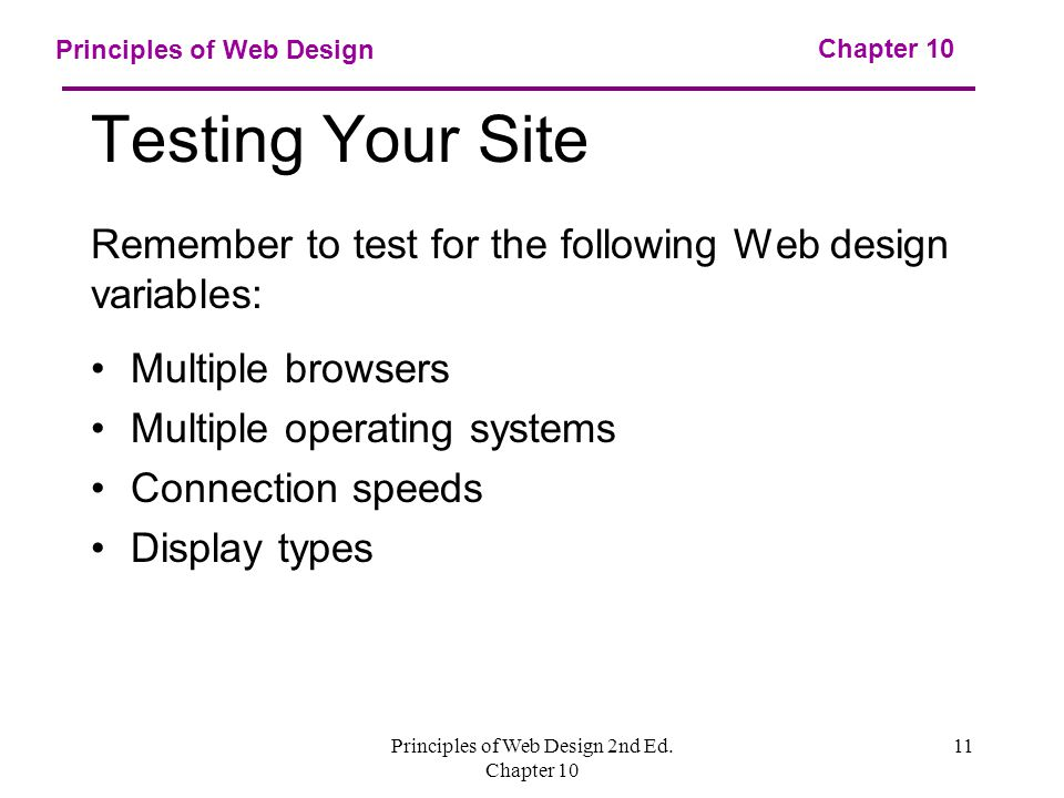 Principles of Web Design 2nd Ed.