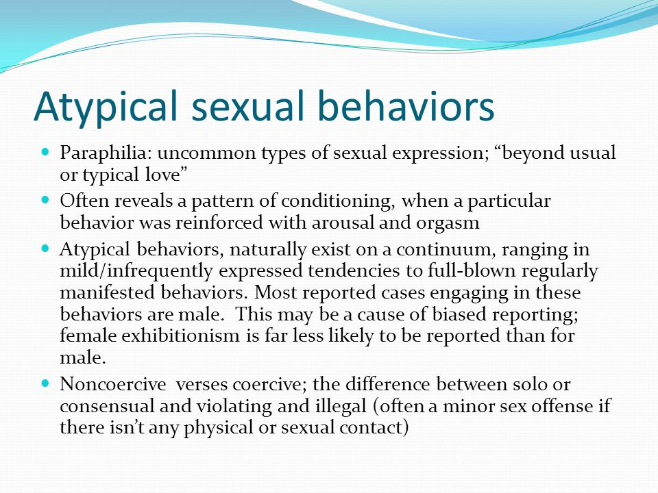 atypical sexual behavior