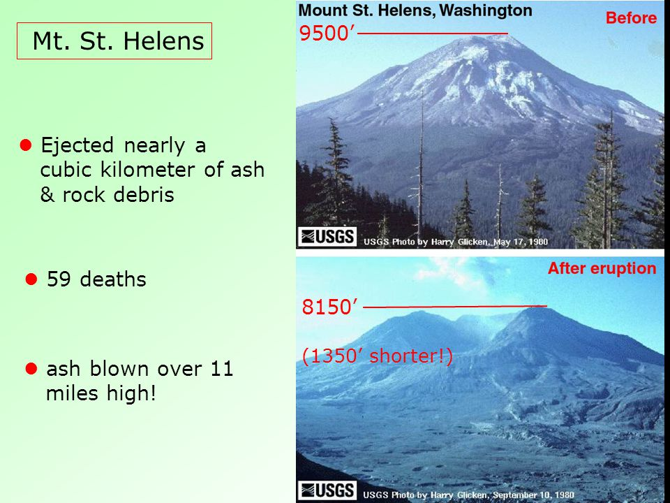Three different types of volcanoes exist; Volcano An opening in ...
