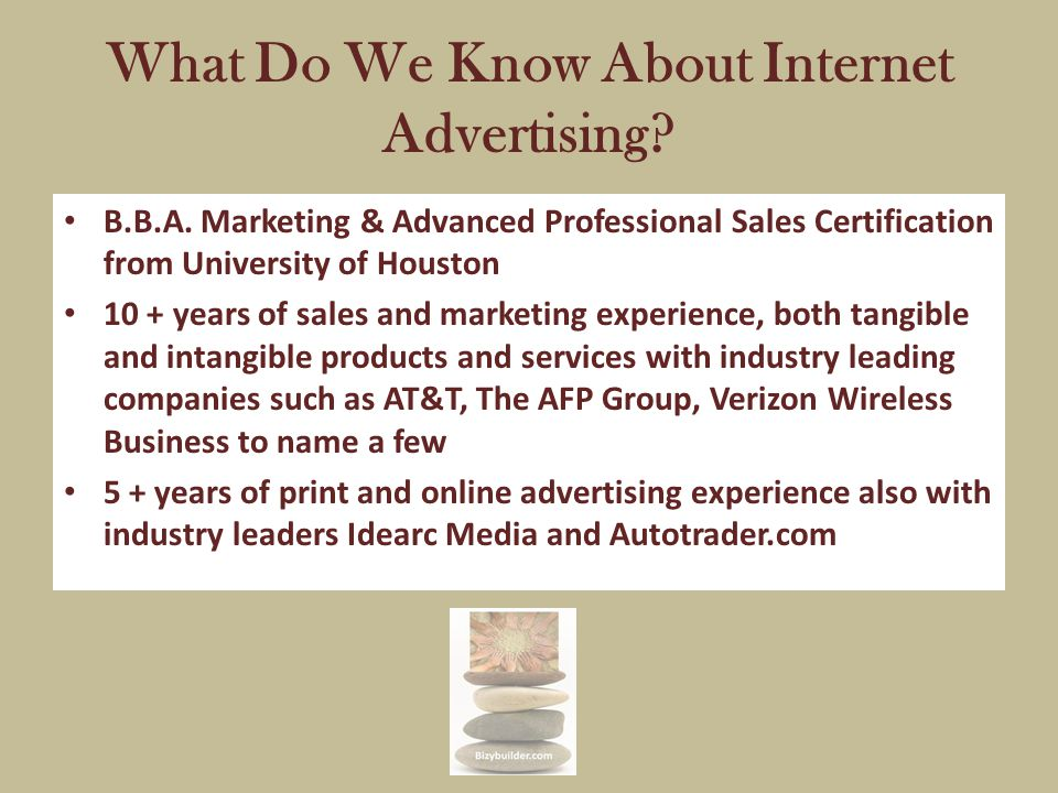 What Do We Know About Internet Advertising. B.B.A.