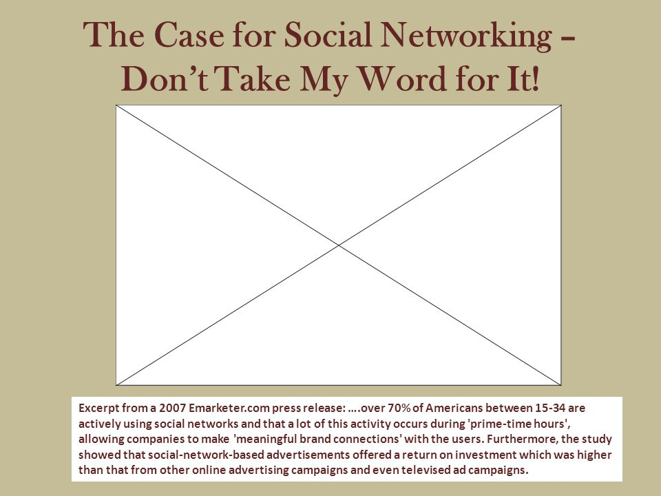 The Case for Social Networking – Don't Take My Word for It.