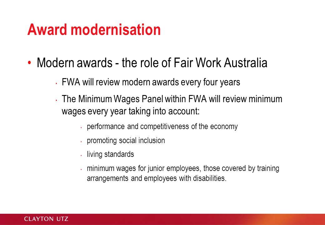 fair work australia vs workchoices