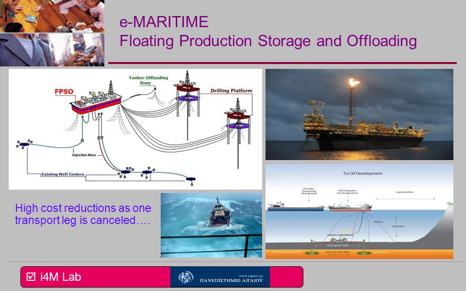  i4M Lab e-MARITIME Floating Production Storage and Offloading High cost reductions as one transport leg is canceled….