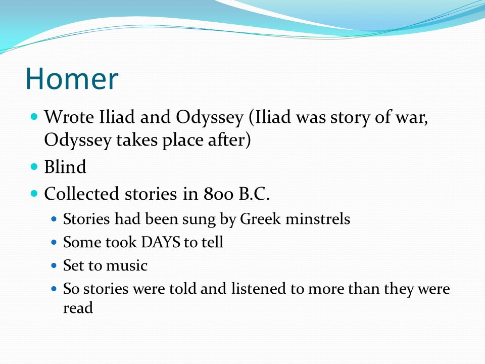 an analysis of the odyssey written by homer A short summary of homer's the odyssey this free synopsis covers all the crucial plot points of the odyssey.