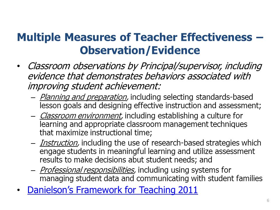 A Framework for Teaching: Components of Professional Practice Domain 4: Professional Responsibilities a.