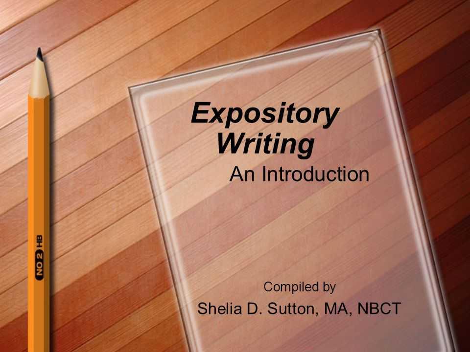 Need help writing an expository intro?