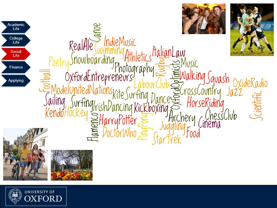 Oxford Explained September 2011 Academic Life College Life Social Life Finance Applying