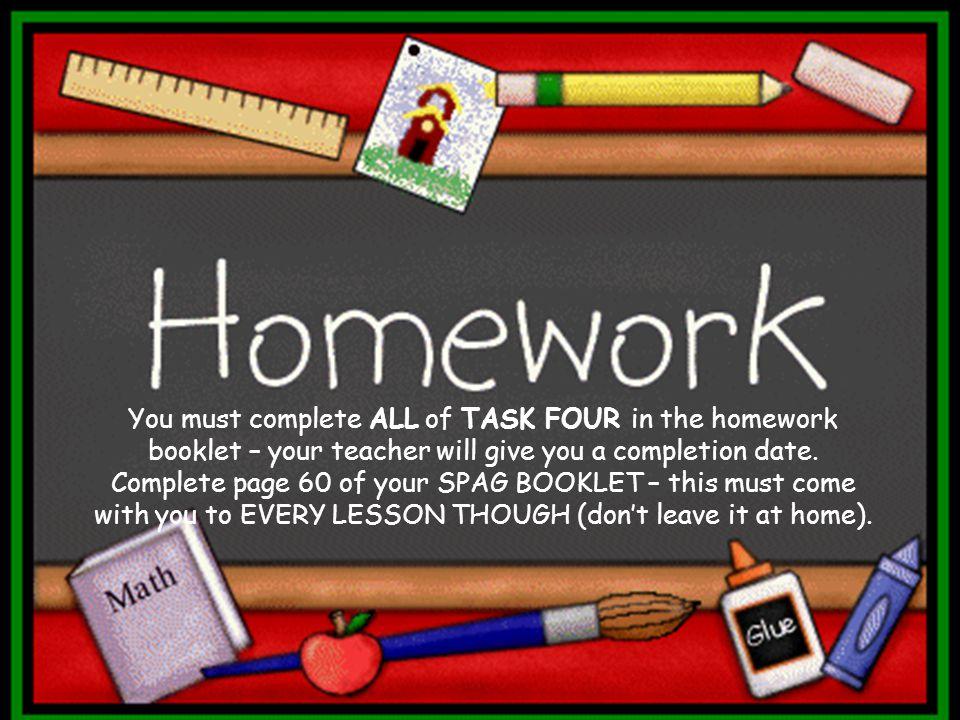 Year 3 Homework