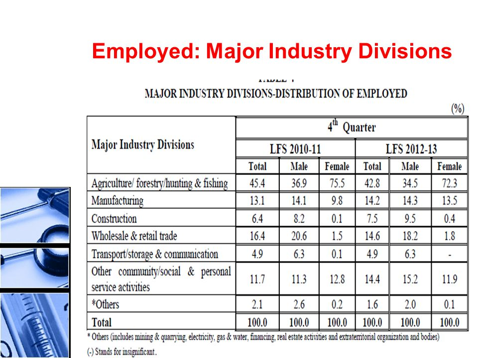 Employed: Major Industry Divisions