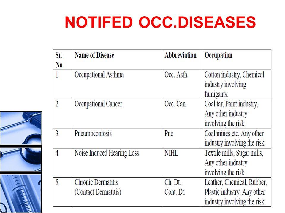 NOTIFED OCC.DISEASES