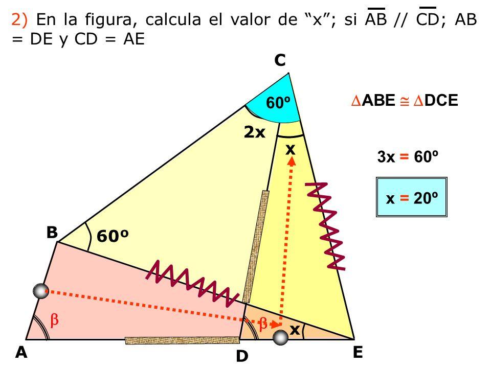 SEGUNDO CASO: ÁNGULO – LADO – ÁNGULO (A – L – A) ABC DEF