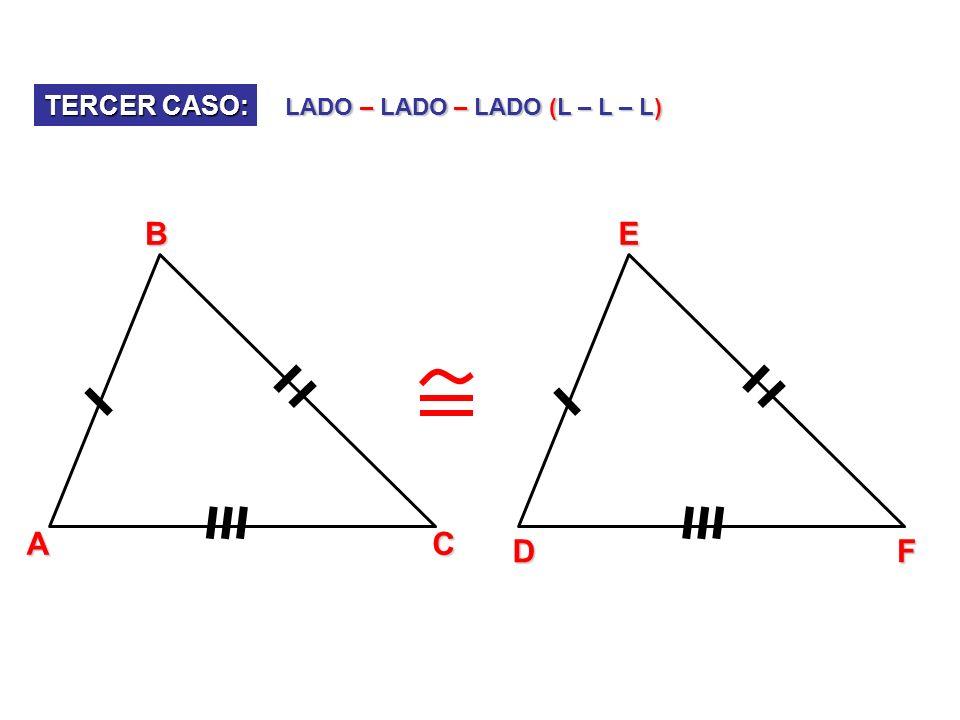 A B C D E 50º x 50º + x 1) Encuentra x, si AB = BD, BC = BE, AE = DC ABE BDC 50º + 50º + x = 180º 100º + x = 180º x = 80º