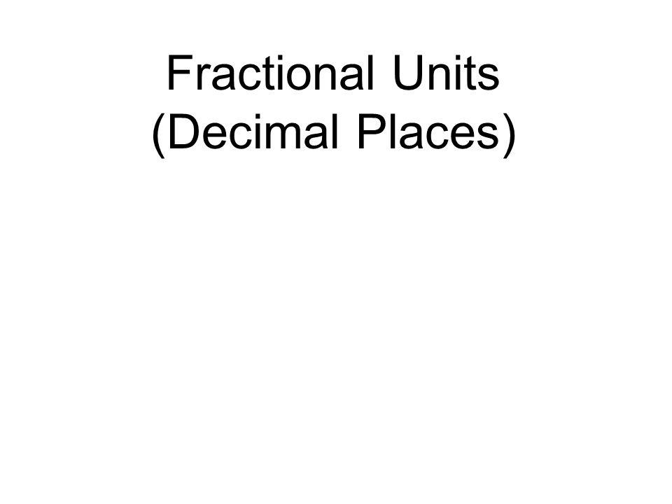 Fractional Units (Decimal Places)