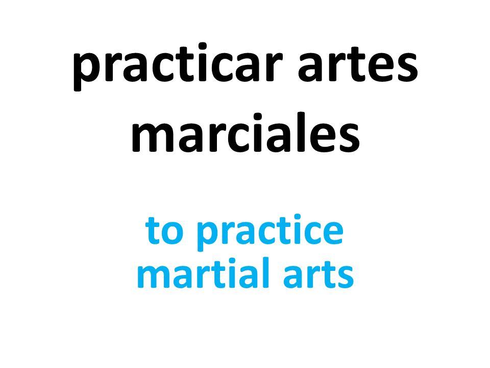 practicar artes marciales to practice martial arts