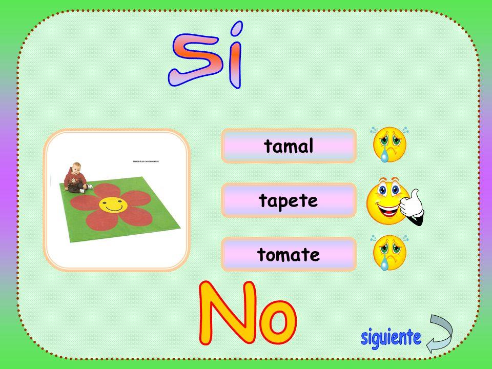 tamal tapete tomate