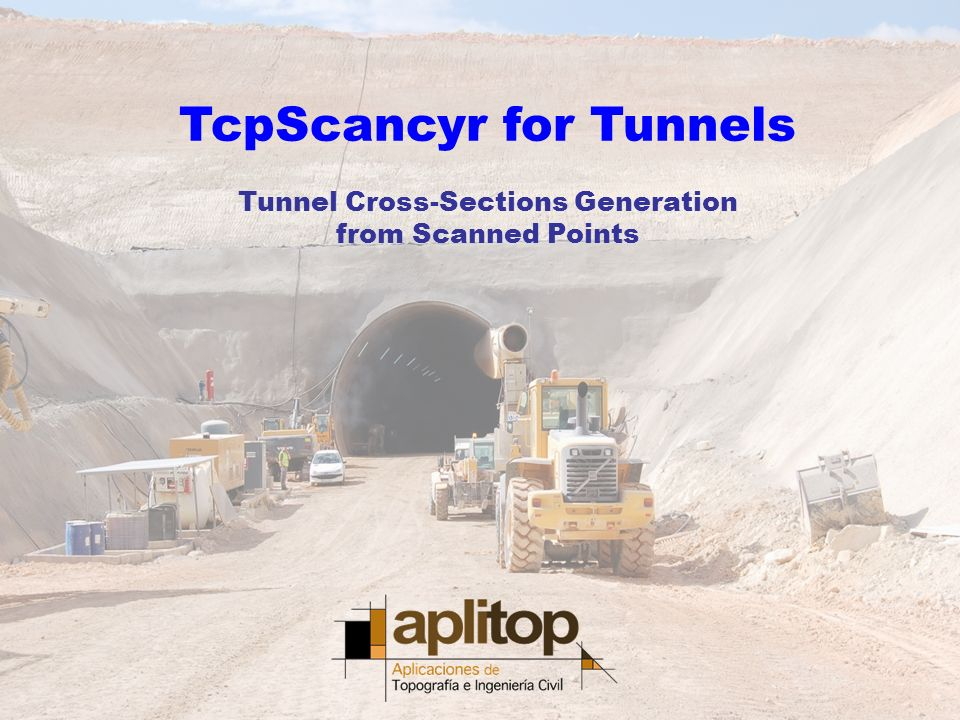 TcpScancyr for Tunnels Tunnel Cross-Sections Generation from Scanned Points
