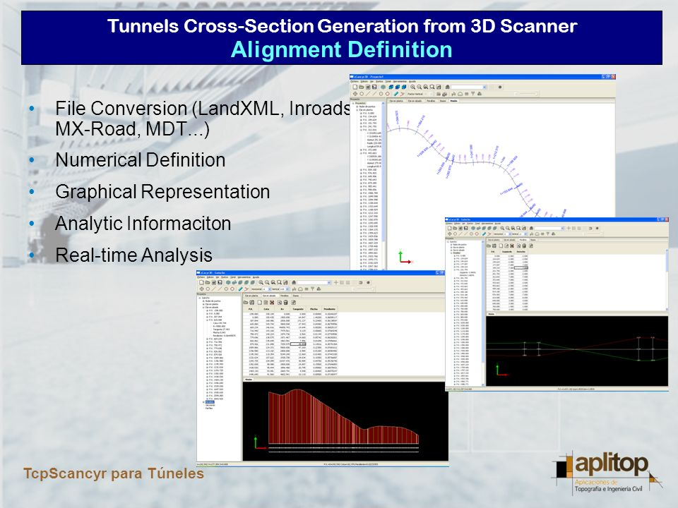 Tunnels Cross-Section Generation from 3D Scanner TcpScancyr para Túneles Template Definition