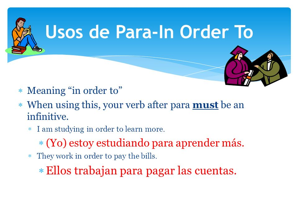 Meaning in order to When using this, your verb after para must be an infinitive.