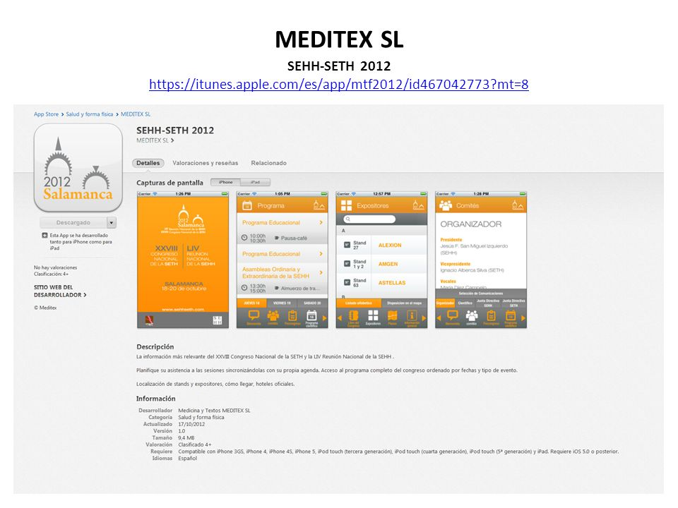 MEDITEX SL SEHH-SETH 2012 https://itunes.apple.com/es/app/mtf2012/id467042773 mt=8